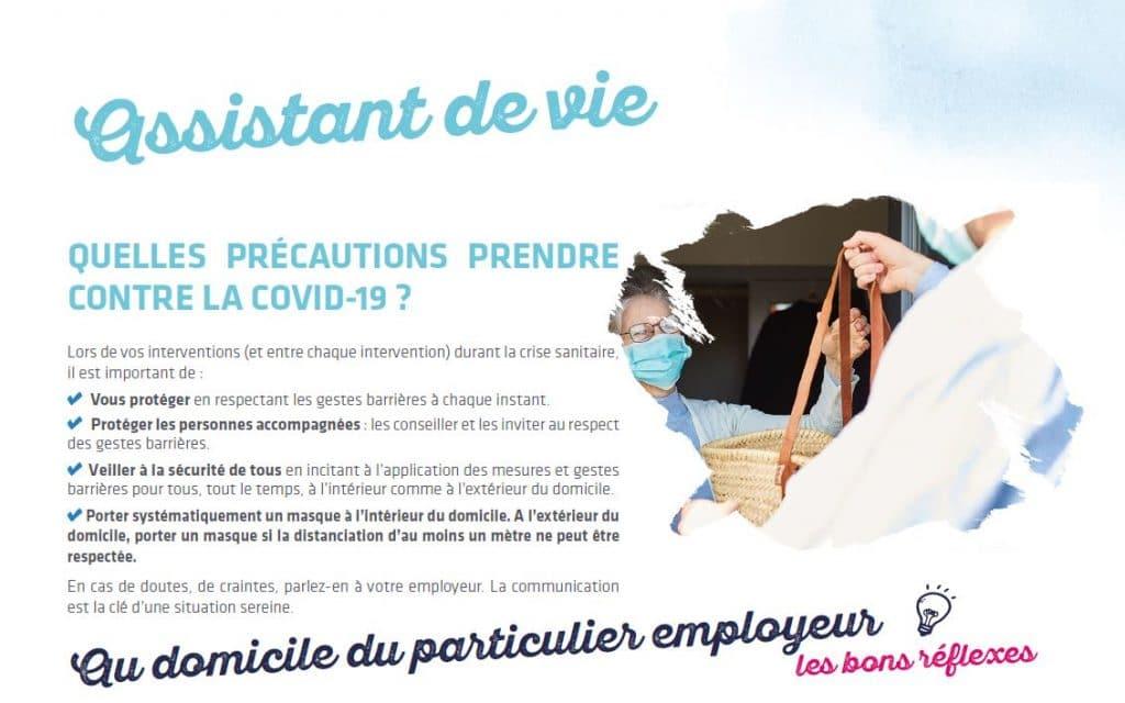assistant de vie covid 19 précautions