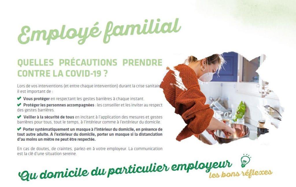 employé familial covid 19 précautions