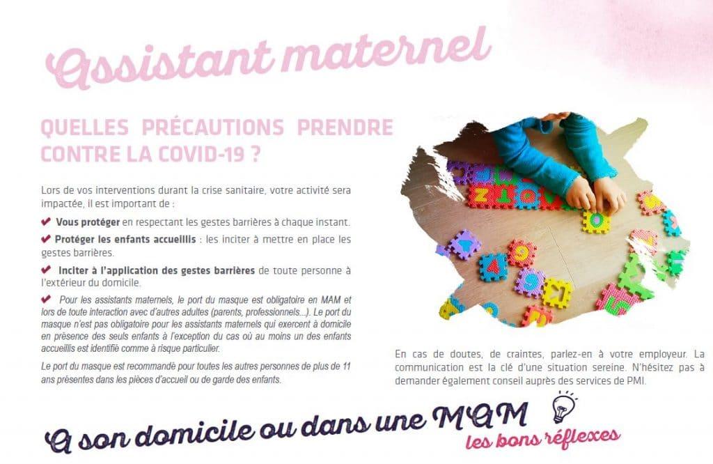 assistant maternel precautions face covid 19